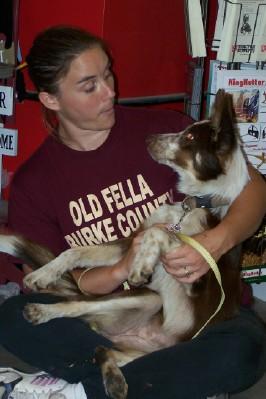 Zoe and Old Fella Volunteer